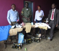 JPS Delegation Handing Over Sewing Machines And Accessories To The Superintendent Of Wum Principal Prison 2