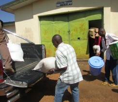 Justice and Peace  Delegation donating farm inputs to the Fundong Principal Prison 3
