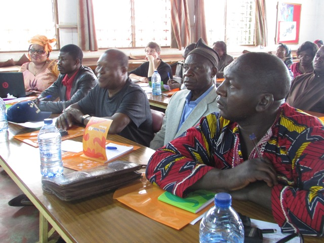 A Cross-Section of participants during trianing